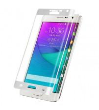 Folie sticla securizata tempered glass Samsung Galaxy Note Edge Full 3D - White