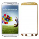 Folie sticla securizata tempered glass Samsung Galaxy S4 - Gold aluminium