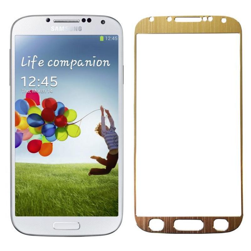 Folie sticla Samsung S4 Gold, Folii Samsung - TemperedGlass.ro