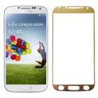 Folie sticla securizata tempered glass Samsung Galaxy S4 - Gold aluminium [Promo DoubleUP]