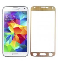 Folie sticla securizata tempered glass Samsung Galaxy S5 - Gold aluminium