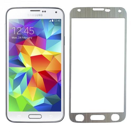 Folie sticla Samsung S5 Silver, Folii Samsung - TemperedGlass.ro