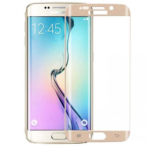 Folie sticla Samsung  S6 Edge Gold, Folii Samsung - TemperedGlass.ro