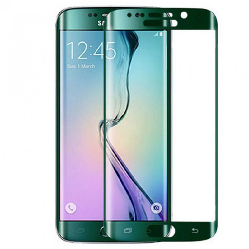 Folie sticla Samsung S6 Edge Green, Folii Samsung - TemperedGlass.ro