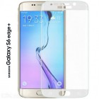 Folie sticla securizata tempered glass Samsung Galaxy S6 Edge Plus - White [Promo DoubleUP]