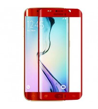 Folie sticla securizata tempered glass Samsung Galaxy S6 Edge - Red