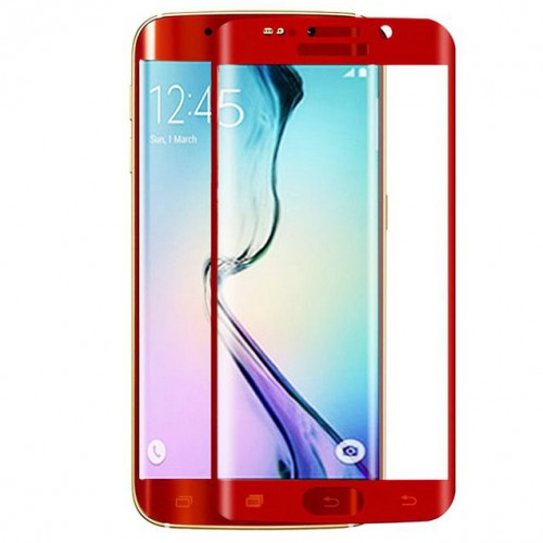 Folie sticla Samsung S6 Edge Red, Folii Samsung - TemperedGlass.ro