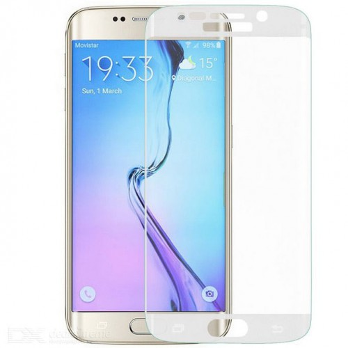 Folie sticla Samsung S6 Edge White, Folii Samsung - TemperedGlass.ro