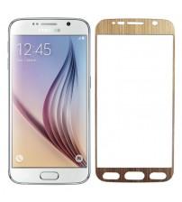 Folie sticla securizata tempered glass Samsung Galaxy S6 - Gold aluminium