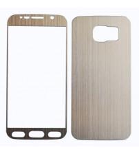 Folie sticla securizata tempered glass Samsung Galaxy S6 - Gold set