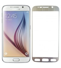 Folie sticla securizata tempered glass Samsung Galaxy S6 - Silver aluminium