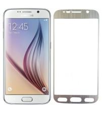 Folie sticla securizata tempered glass Samsung Galaxy S6 - Silver aluminium