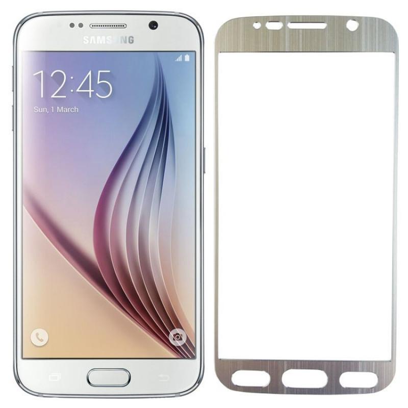 Folie sticla Samsung S6 Silver, Folii Samsung - TemperedGlass.ro