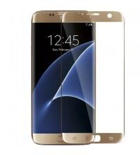 Folie sticla securizata tempered glass Samsung Galaxy S7 - Gold