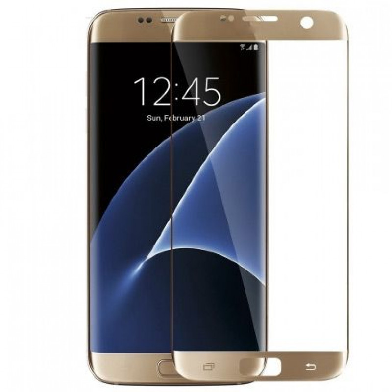 Folie sticla Samsung S7 Gold, Folii Samsung - TemperedGlass.ro