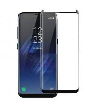 Folie sticla securizata tempered glass Samsung Galaxy S8 Plus, 3D Black, FULL GLUE