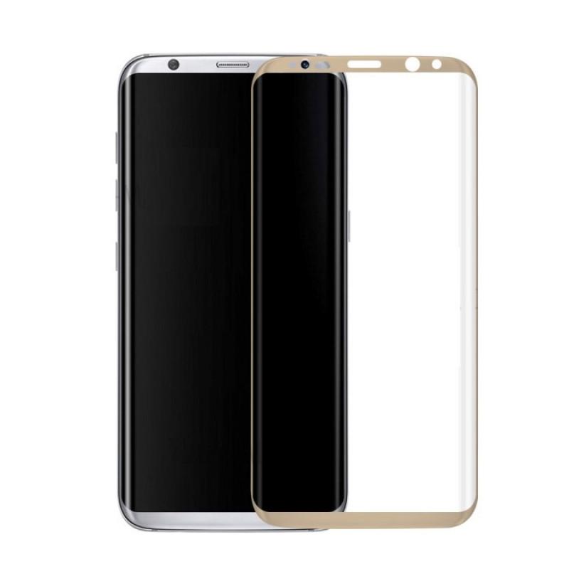 Folie sticla Samsung S8 Gold, Folii Samsung - TemperedGlass.ro