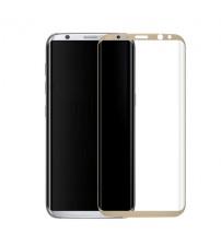 Folie sticla securizata tempered glass Samsung Galaxy S8 - 3D Gold