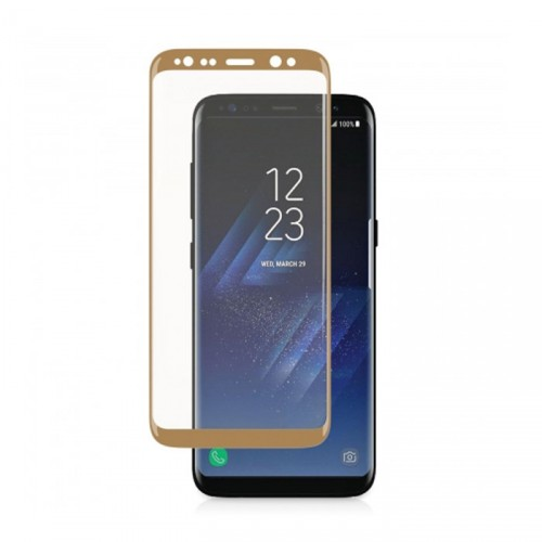 Folie sticla Samsung S8 Plus Gold, Folii Samsung - TemperedGlass.ro