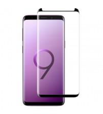 Folie sticla securizata tempered glass Samsung Galaxy S9, 3D Black, FULL GLUE
