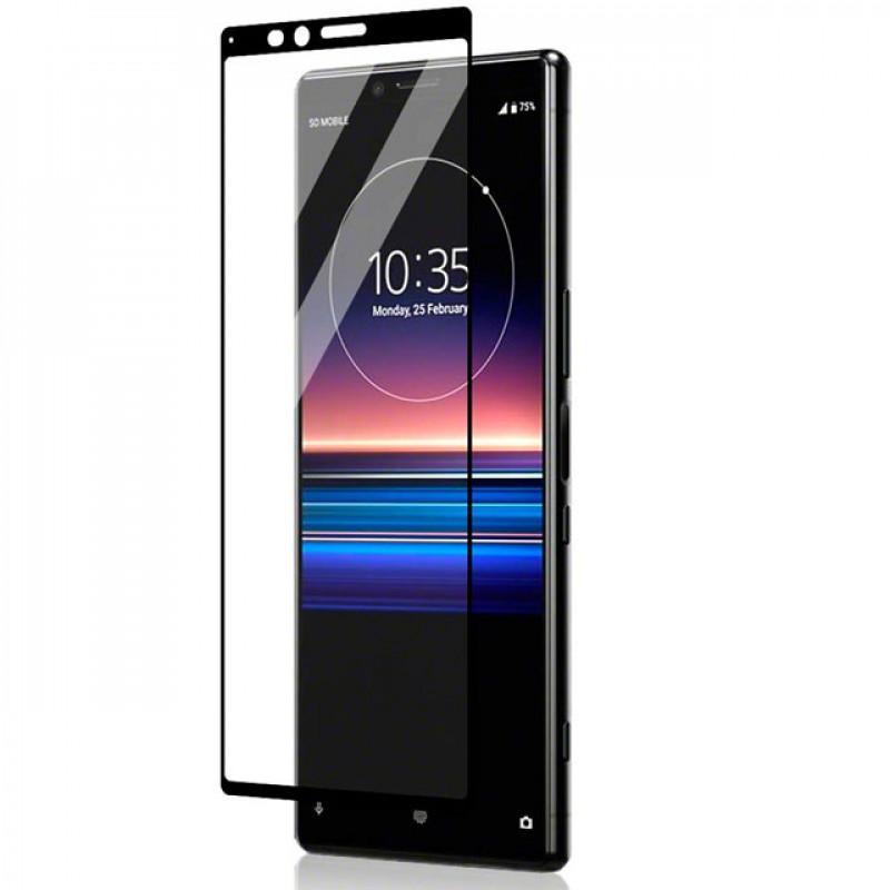 Folie sticla Sony Xperia 1 Black, Folii Sony - TemperedGlass.ro