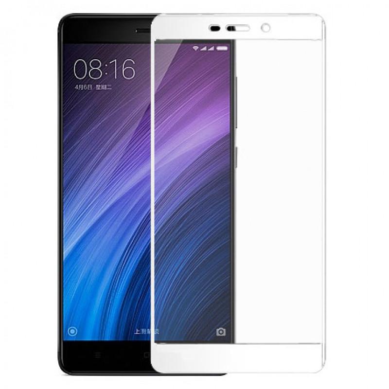 Folie sticla Xiaomi Redmi 4 Prime, White - TemperedGlass.ro