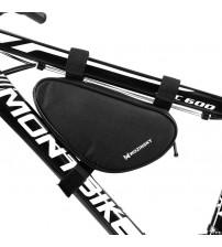 Geanta impermeabila Wozinsky cadru bicicleta 1.5L, Negru