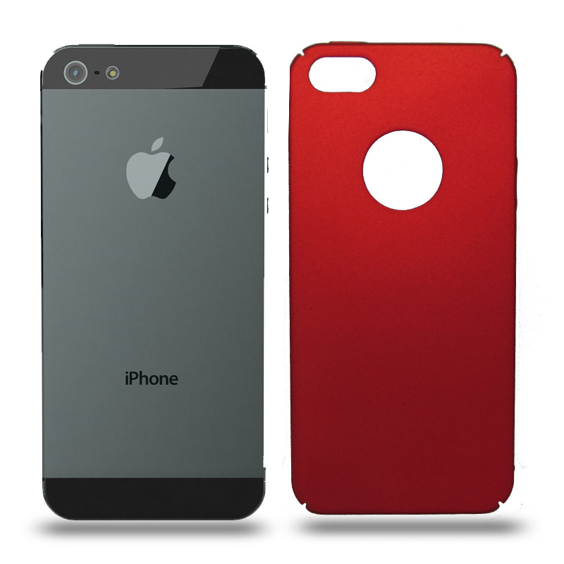 Husa iPhone 5 / 5S rigida red, Huse iPhone - TemperedGlass.ro