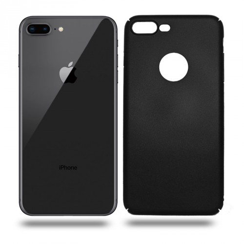 Husa iPhone 8 Plus rigida black, Huse iPhone - TemperedGlass.ro