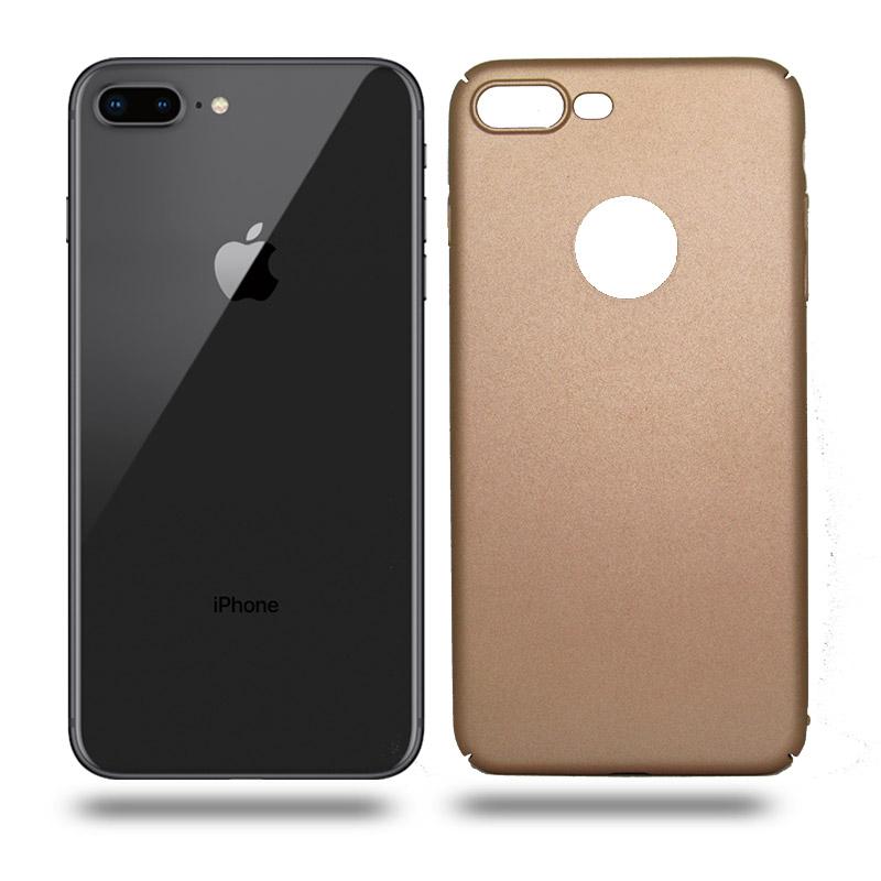 Husa iPhone 8 Plus rigida gold, Huse iPhone - TemperedGlass.ro