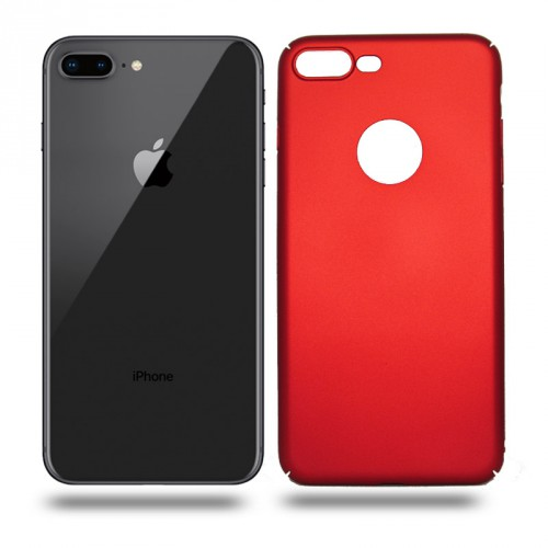 Husa iPhone 8 Plus rigida red, Huse iPhone - TemperedGlass.ro