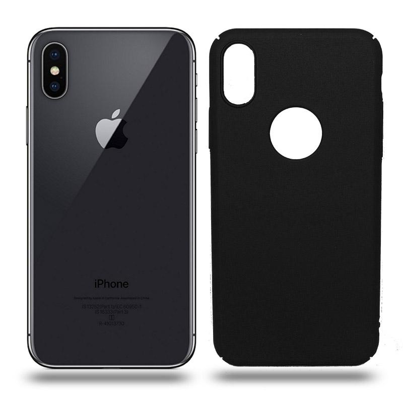 Husa iPhone X rigida black, Huse iPhone - TemperedGlass.ro