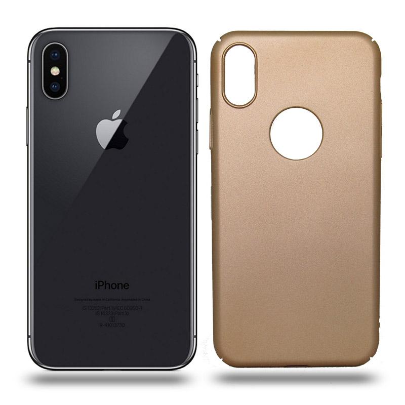 Husa iPhone X rigida gold, Huse iPhone - TemperedGlass.ro