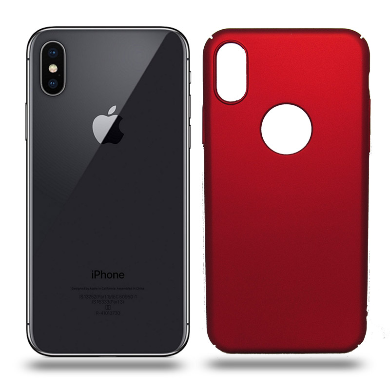 Husa iPhone X rigida red, Huse iPhone - TemperedGlass.ro