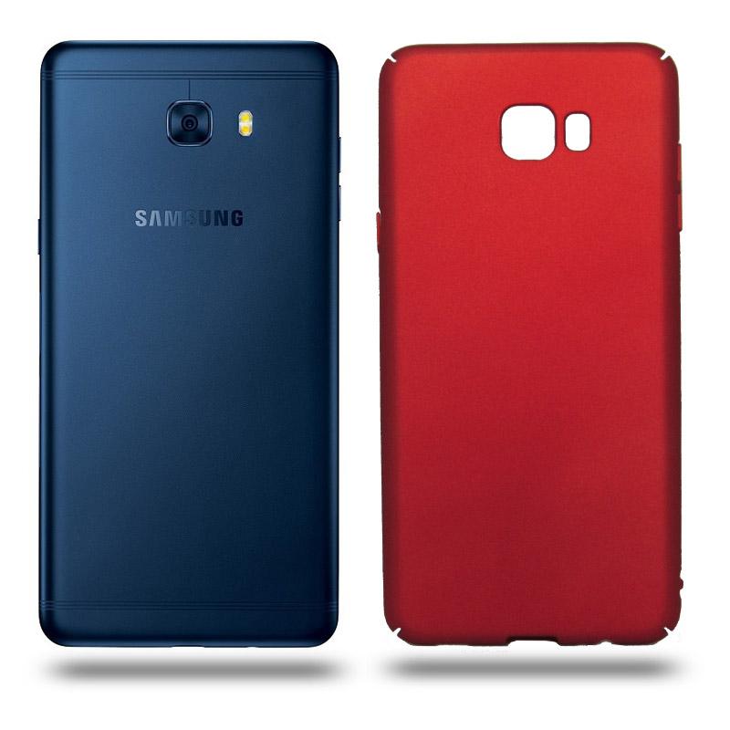 Husa Samsung Galaxy C7 Pro rigida red, Huse Samsung