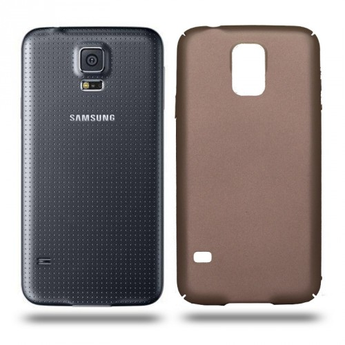 Husa Samsung Galaxy S5 / S5 Neo rigida gold, Huse Samsung