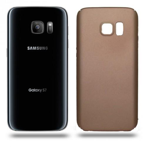 Husa Samsung Galaxy S7 rigida gold, Huse Samsung
