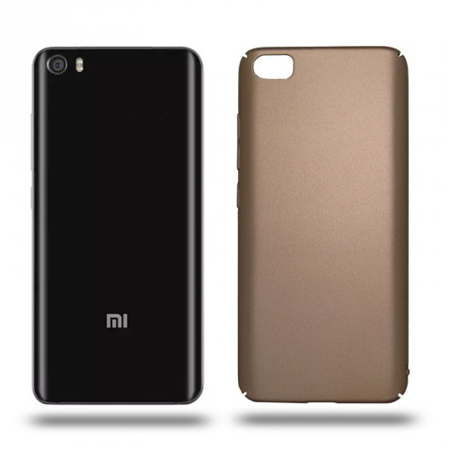 Husa Xiaomi Mi5 rigida gold, Huse Xiaomi - TemperedGlass.ro