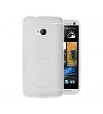 Husa de protectie Slim TPU pentru HTC One M7, Transparenta [Promo DoubleUP]