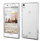 Husa de protectie Slim TPU pentru Huawei Ascend P6, Transparenta
