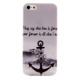 Husa de protectie Slim TPU pentru iPhone 5 / 5S,  Ancora