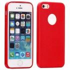 Husa de protectie Slim TPU pentru iPhone 5 / 5S, Rosu