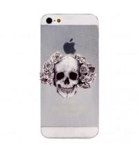 Husa de protectie Slim TPU pentru iPhone 5 / 5S,  Skull