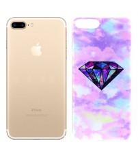 Husa de protectie Slim TPU pentru iPhone 7 Plus, Pink Diamond