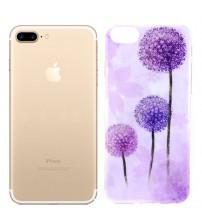 Husa de protectie Slim TPU pentru iPhone 7 Plus, Pink Dandelion