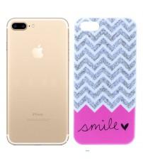 Husa de protectie Slim TPU pentru iPhone 7 Plus, Smile