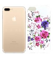 Husa de protectie Slim TPU pentru iPhone 7, Roses