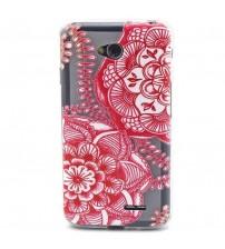 Husa de protectie Slim TPU pentru  LG L70, Red Flower