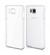 Husa de protectie Slim TPU pentru Samsung Galaxy Alpha, Transparenta [Promo DoubleUP]