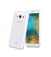 Husa de protectie Slim TPU pentru Samsung Galaxy E5, Transparenta [Promo DoubleUP]